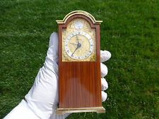 EXC Vintage Reuge Music Box Alarm Swiza Miniature Tempus Fugit Grandfather Clock