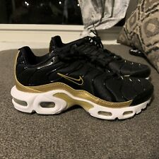 Nike Air Max Plus (GS) Black Gold Running CD0609-002 Men Size 4.5Y / Women 6