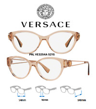 1c9d189fc5e Versace VE3254A 5215 Eyeglass Frames Transparent Brown 100% New Authentic  54mm