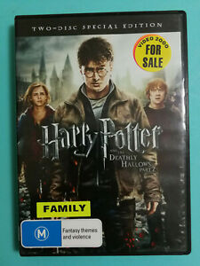 Harry Potter and the Deathly Hollows Part 2 Rated M R4 Acceptable 2 disc set