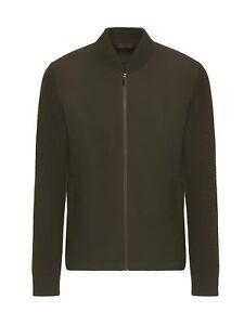 Ermenegildo Z ZEGNA Hybrid Olive / Khaki Green Jumper Sweater Jacket RRP:£595.00