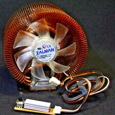 ZALMAN Copper Ultra Quiet Heatsink CPU COOLER w/ Copper Fins and Speed Control