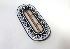 Insólita Hebilla de cinturón hebilla para 1900 Francia / Suiza Esmalte