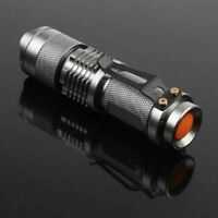 7W 300LM Zoom Mini Lamp Q5 LED Flashlight Torch Light Lamp Super Bright Light