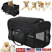USA Small/Large Cat/Dog Pet Carrier Soft Sided Comfort Bag Travel Case Airline