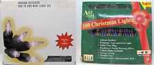 100 Christmas Lights   2 SETS  Clear and Multi-Color  Mini Lights Decoration