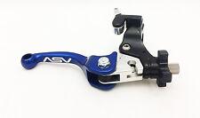 ASV F3 Adjustable Unbreakable Folding Shorty Blue Clutch Lever Hot Start KX
