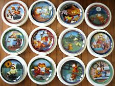 Garfield A Day With - Danbury Mint 12 plate collection Flawless & Complete.