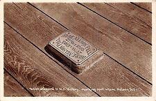 POSTCARD   SHIPS Tablet  on  board  HMS  Victory marking spot where Nelson fell