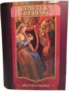 MasterPieces Beauty & The Beast Puzzle Book Box - 51437 500pcs - New In Box