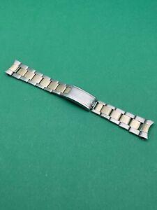 1964 Rolex SWISS rivet 7206 SS / Gold bracelet w/ 58 20mm end pieces 6636