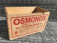 ANTIQUE VETERINARY MEDICINE CHEST OSMOND GRIMSBY LINCOLNSHIRE GENUINE PERIOD...