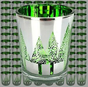 96 x Official Yankee Christmas Trees Glass Votive Candle Holders Bulk Special