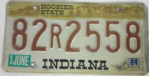 INDIANA  licence/number plate US/United States/USA/American 82 R 2558