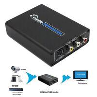 HDMI à sur AV CVBS , S-Video R/L + Adaptateur Audio câble 1080p HD convertisseur