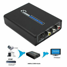 HDMI a AV CVBS S-Video R/L + adattatore audio cavo 1080P HD Convertitore HDTV EU