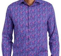 Jerry Garcia Mens L/S Shirt * Purple Abstract Print Size XXL Stretch NWT
