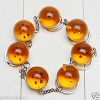 7pcs Dragonball Dragon Ball Z 1-7 Stars 2.5cm Crystal Balls Keychain Keyring Set