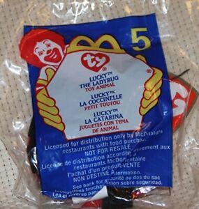 McDonald's Ty Teenie Beanie Lucky the lady bug #5 2000 NEW