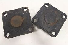"Lot of (2) UFCO Tyler Union 4"" Cap Cover Cast Iron 4-Bolt USA 350 DI + Free SH"