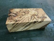 SPALTED HACKBERRY DELUXE KNIFE BLOCK/SCALES/ CALLS/ PEN BLANKS--H--E--2