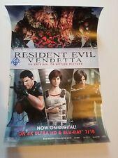 CAPCOM Resident Evil: Vendetta 17 x 11 SIGNED Movie Poster