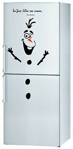 Olaf Snowman Frozen 2 Christmas Fridge stickers Decal Door wall window xmas uk