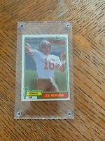 JOE MONTANA 1981 TOPPS ROOKIE CARD #216