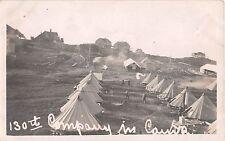 c.1915 RPPC Tents 130th Company in Camp Newport ? RI
