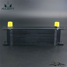 Universal 13 Row AN10 Engine Transmission 248mm Oil Cooler Mocal Style Black
