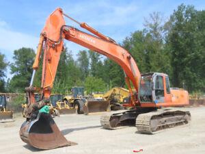 2004 Hitachi ZX270LC Hydraulic Excavator Aux Hyd QC Isuzu Diesel A/C Cab bidadoo