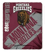 Montana Grizzlies Large Logo Fleece Throw Blanket
