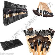 32 Piezas De Profesional Madera Brochas De Maquillaje Kit De Cosméticos Kit Con Una Bolsa Funda