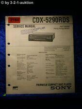 Sony Service Manual CDX 5290RDS CD Radio (#2164)