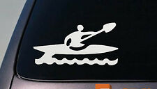 "KAYAK KAYAKER CANOE ROWING OARS FLAT BOTTOM RACING STICKER DECAL 6"" *D684*"