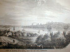 1853 illustrated newspaper w detailed engraving View HALIFAX Nova Scotia CANADA