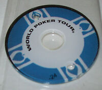 World Poker Tour Pinball Machine Promo Plastic Original 2007 Stern NOS Blue #24