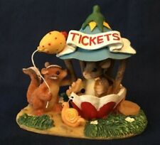 "Charming Tails Teeny Tiny Mouse ""The Ticket Booth"" 80/2 with Box Fitz & Floyd"