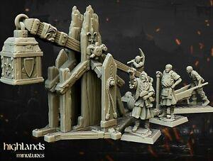 Bretonnia Trebuchet Proxy Miniature - Warhammer Fantasy Battle / AOS