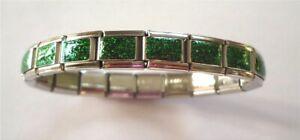 Italian Charms Charm Green Glitter Starter Bracelet