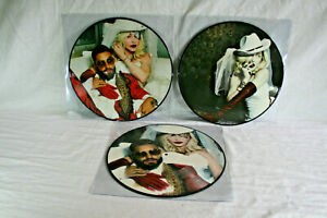 MADONNA FEAT MALUMA ‎MEDELLIN PARTS 1, 2 & 3   12'' PICTURE-DISCS PACK OF 3