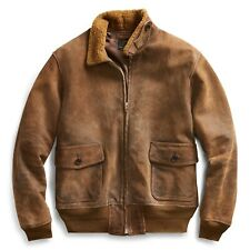 RRL Ralph Lauren LE Distressed Shearling roughout Leather Jacket NWT S