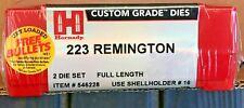 Hornady .223 Remington Full Length Die Set 223 Custom Grade #546228