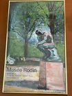 Edvard Munch The Thinker Muse'e Rodin POSTER 1970 Ready To Hang Lithograph
