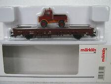 Märklin HO/DC 00753-10 Rungenwagen mit Unimog DB (RG/CL/105-12R4/2)