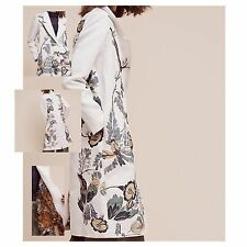 NWT Anthropologie Embroidered Foliage Coat Medium NEW Birds By Hemant & Nandita