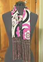 EMILIO PUCCI Signed 100% Silk LONG Multi Wear Scarf w/Fringes ICONIC-NWOT Mint!