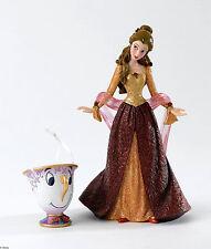 Disney Traditions Christmas Belle & Chip Beast & Beast Figurine 4053349 BNIB