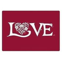 Set of 4 Place Mats And Coasters Christmas Love Dining Table Placemats