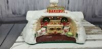 Enesco Music Musical Box Santa Xmas Holiday Sandi Zimnicki 1986 Bakery House
